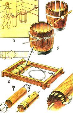 #Бондарное ремесло. Приспособления для стягивания бочечных клепок