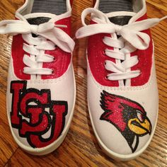 Illinois State University Shoes by psmolly96 on Etsy