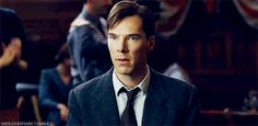 """MAKING """"THE IMITATION GAME"""" (2014) ~ Benedict Cumberbatch as Alan Turing in the behind-the-scenes video. [Video/GIF]"""