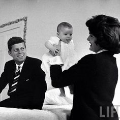 President John F Kennedy, First Lady Jacqueline Kennedy and daughter Caroline Kennedy