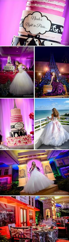 quinces  Nicoles Paris Themed Quince Cake | Fontainebleau Miami Beach