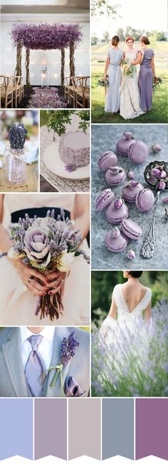 lavender wedding color palette