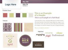 Style tiles for web design by megan derrick/creative arc www.creativearc.com