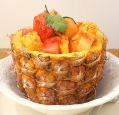 Savoury Table: Mexican Fruit Salad and a Simple Shrimp Salsa for Cinco de Mayo