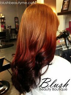 Red & black reverse ombre
