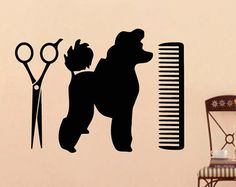 Dog Wall Decal Pets Grooming Salon Decals Vinyl by WisdomDecals
