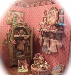 Half-Inch Scale Little Girl's Room Princess Nursery, Baby Princess, Little Girl Rooms, Little Girls, Dolly House, Barbie Diorama, Nursery Accessories, Pink Doll, Miniature Rooms