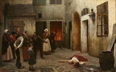 Murder in the House. Jakub Schikaneder, 1890