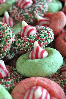 Use any cookie dough, crush some peppermint candies and mis into the pink dough. Use mint flavor in the green dough, etc.