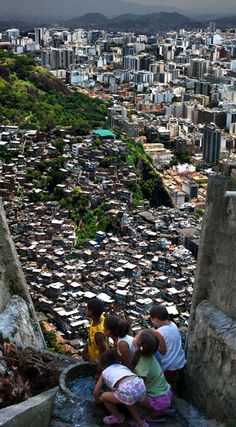 "awkwardsituationist: "" photos from claudia jaguaribe's ""between hills"" (2012) of the have and have nots in rio de janeiro, as seen from the (no doubt intentionally claustrophoic) perspective of..."