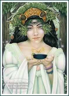 ✯ Tarot Nine of Earth :: Artist Ravynne Michele Phelan ✯