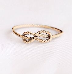 Twisted 14k gold filled infinity ring, stacking ring, knuckle ring