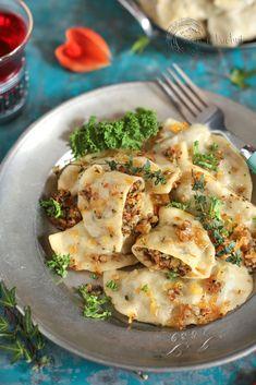 Ravioli, Dumplings, Enchiladas, Potato Salad, Vegetarian Recipes, Pancakes, Clean Eating, Food And Drink, Veggies