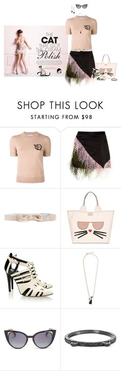 """""""The Cat"""" by chileez ❤ liked on Polyvore featuring Bella Freud, Christopher Kane, Ann Demeulemeester, Karl Lagerfeld, Rebecca Minkoff, Kate Spade, Fendi, Stephen Webster and catstyle"""