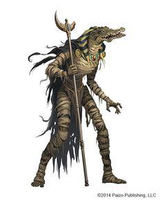 'gatorman from around Nithian times..?  [Animal Headed Mummy by kikicianjur on DeviantArt]
