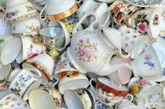 While the royals drink tea in fine bone china, the rest of us are more likely to drink from mugs of cats or cartoon characters. China pictured is generic photo of tea cups. // Using the good china: Thomas Goode & Co. Ltd. (iStock)