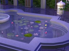 Bottomless fountain (any flooring you use under it will show through the water).