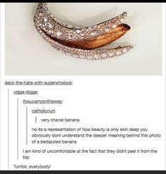 Bejeweled banana...