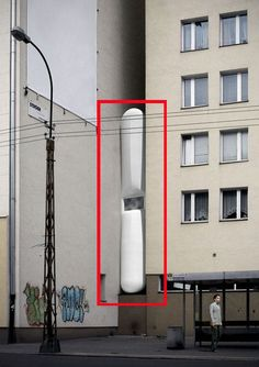 Etgar Keret's House – perhaps the narrowest building in the world...He will have an area of 14.5 m2 at his disposal – the width of furniture is limited to 1.22 metres to allow passage. The entrance steps descend and retract by remote control.  designed by Jakub Szczęsny of Centrala // #narrow #interstitial #poland