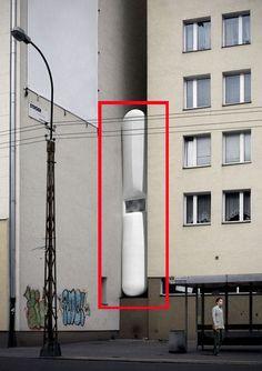 Vivir en un hueco entre edificios de 1,20m. Vivienda mínima.