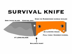 Hi-viz survival knife