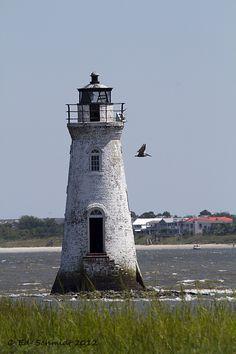 """""""Cockspur Lighthouse"""" by Ed Schmidt, via 500px."""
