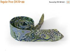 SALE 30% OFF Moss Green Paisley Tie  Men's by TheBestBoysTies