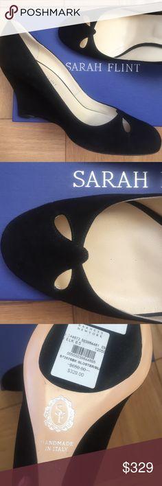 Sarah Flint wedges BRANd NEW NTW! Black suede 38.5 from Barneys sarah Flint Shoes