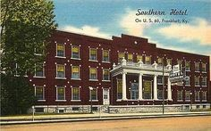 Frankfort Kentucky KY 1940s Southern Hotel US 60 Vintage Advertising Postcard