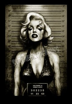 "Marilyn Monroe Mugshot Art Print by Marcus Jones 11.5"" x 8"" approx on Etsy, $10.67 CAD"