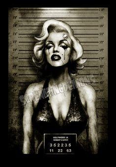 "Marilyn Monroe Mugshot Art Print by Marcus Jones 11.5"" x 8"" approx on Etsy, $10.67 CAD"