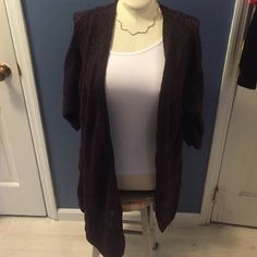 Vanity Burgundy and Gray Cardigan Ask me questions❤️accept some offers❤️ Vanity Sweaters Cardigans