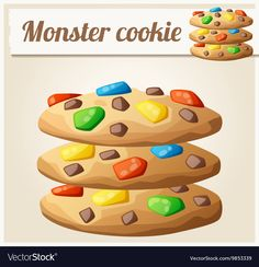 Find Monster Cookies Detailed Vector Icon Series stock images in HD and millions of other royalty-free stock photos, illustrations and vectors in the Shutterstock collection. Plant Cartoon, Fruit Cartoon, Free Vector Images, Vector Free, Big Gift Boxes, Fruit Sketch, Cookie Vector, Noni Fruit, Chalkboard Vector
