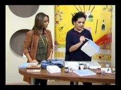 Mulher.com 25/05/2011 - Imitação de Jeans em MDF