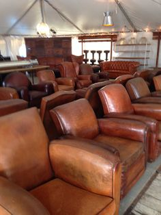 Gentleman's club chairs from England.  - Brimfield MA