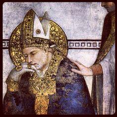 Fresco detail, St Francesco Abbey, Simone Martini, 1312-17
