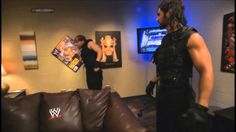 The Shield Attack Brad Maddox (Dean Ambrose FUNNY)- Smackdown 4/25/14