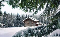 Fotogalerie zasněžených krajin Winter House, Top Free, Hd Images, Homescreen, Wonderful Places, High Quality Images, Background Images, Find Image, Scenery