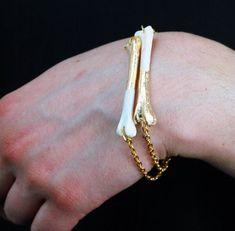 Real crow bones bracelet Steampunk taxidermy by VirginiatheWolf Bracelet Making, Jewelry Making, Taxidermy Jewelry, Bone Crafts, Bone Jewelry, Biscuit, Skull And Bones, Looks Style, Jewelery