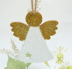 christmas angel christmas fairy wooden decoration holiday tree ornament glitter fairy
