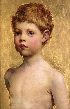 Anna Louise Swynnerton - Portrait Of A Boy (1844 – 1933, English)