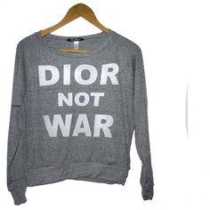 Sweat DIOR NOT WAR grey