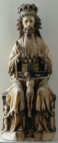 Bosom of Abraham Trinity -- -- English -- Alabaster with polychromy & gilding -- Museum of Fine Arts, Boston Medieval World, Medieval Art, Renaissance Art, Religious Icons, Religious Art, Madonna, Catholic Art, Catholic Rituals, Art Français