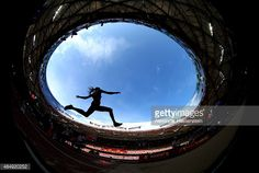 Laura Ikauniece-Admidina of Latvia competes in the Women's Heptathlon... News Photo | Getty Images
