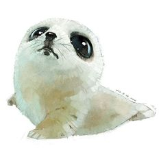 super cute watercolor animals by 雪娃娃童画 /// lubbies :))