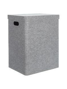 Buy House by John Lewis Felt Laundry Basket, Grey from our Laundry Baskets, Bins & Bags range at John Lewis & Partners. Recycle Plastic Bottles, Laundry Basket, Home Buying, John Lewis, Recycling, Felt, Grey, Bedroom, Design