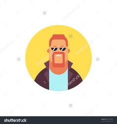 Cool Guy Icon. Modern Flat Style Vector Illustration. - 516781582 : Shutterstock