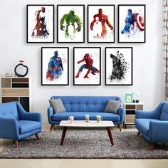 Superhero decor Super hero wall art Superhero room decor Christmas gifts gift for kids Superhero Poster Wall Art avengers art Superhero Room Decor, Superhero Wall Art, Superhero Poster, Boys Room Decor, Home Decor Bedroom, Boy Room, Kids Room, Boys Superhero Bedroom, Superhero Canvas