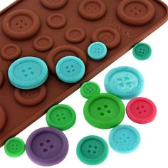 Silicone chocolate mold,cookies mold,3D Cute button shape cake decoration tools,moldes de silicona para fondant,kitchen tools on Aliexpress.com | Alibaba Group