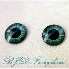 Blythe eye chips eyes hand painting blue black 1# 1 pair by BJD fairyland